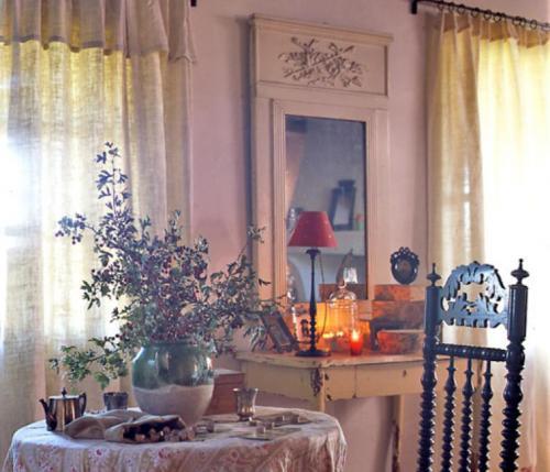 Rideaux style campagne nos astuces pour choisir votre tissu - Rideaux maison de campagne ...