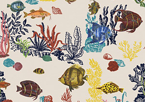 Tissu Sous la Mer