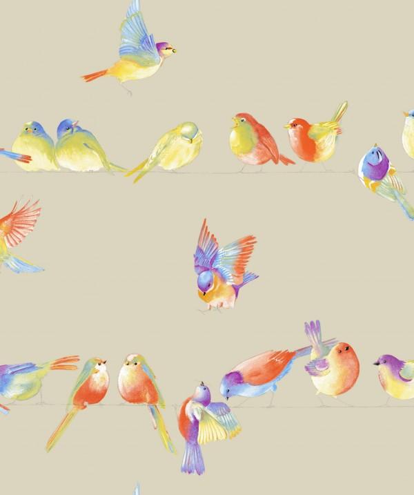 Tissu Happy Birds