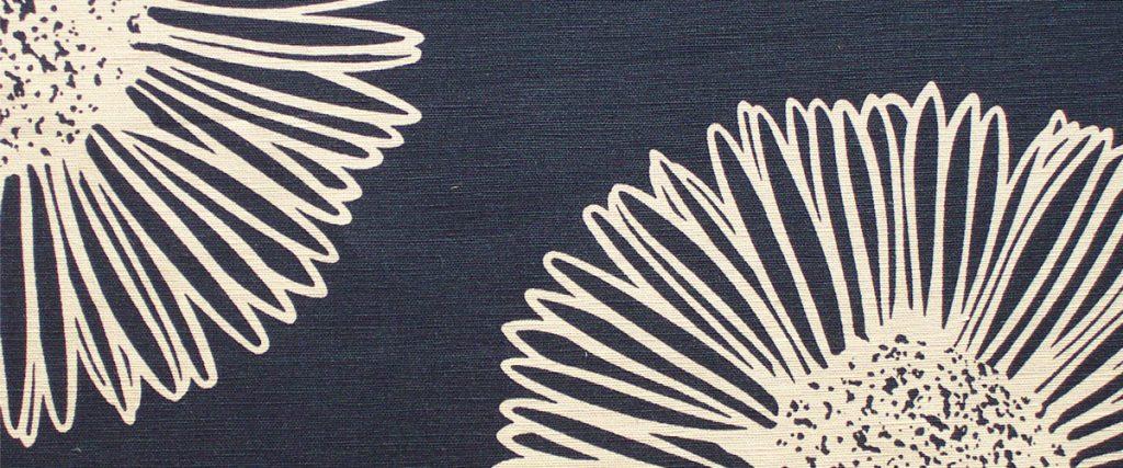 Tissu floral contemporain