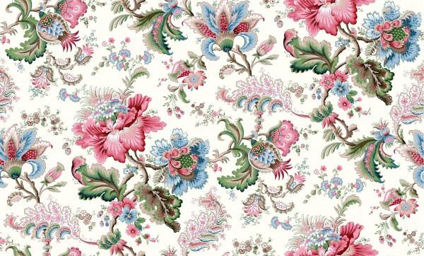 Tissu floral façon toile indienne ou Perse