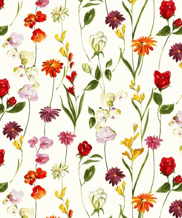 Tissu floral naturaliste Quintessence