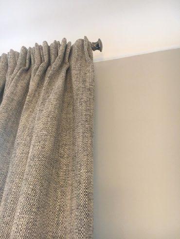rideau sur tringle en tissu épais Toscane