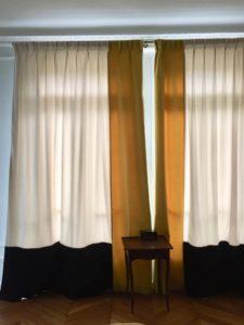 rideaux tissus velours