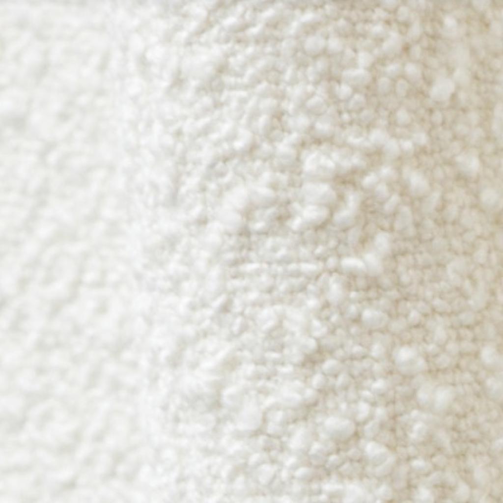 tissu blanc bouclette