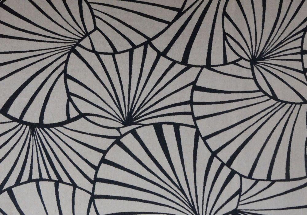 tissu jacquard motifs nénuphars art déco