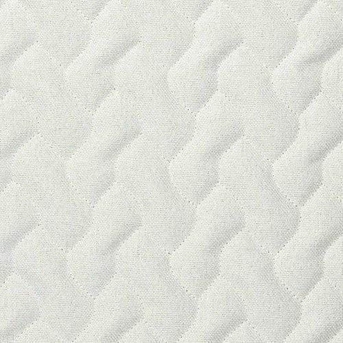 tissu à motifs matelassés blanc
