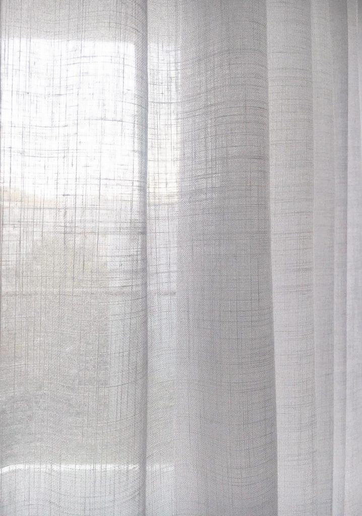 rideau voilage lin blanc