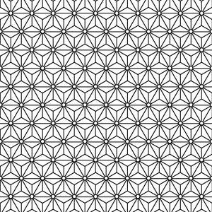 tissu japonais motif Asanoha