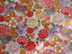 tissu japonais motif fleurs