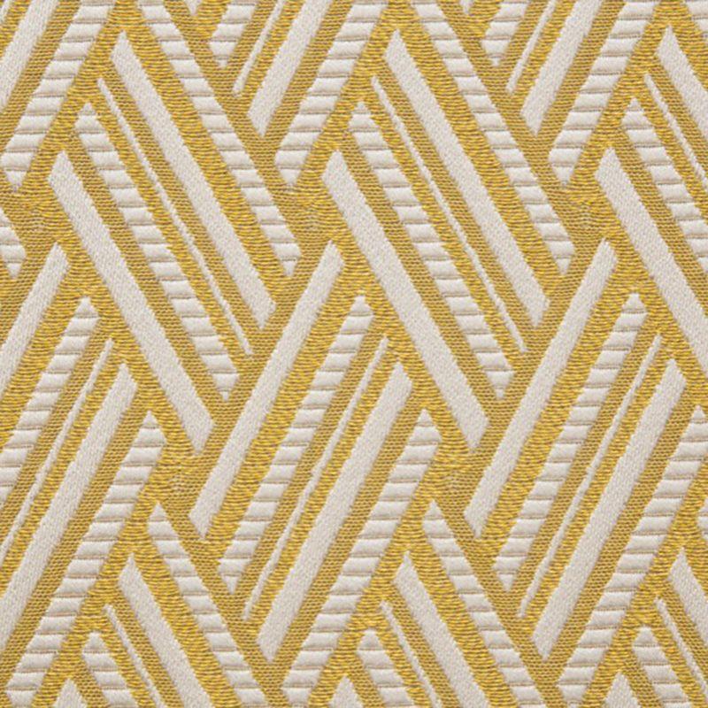 tissu jacquard jaune doré