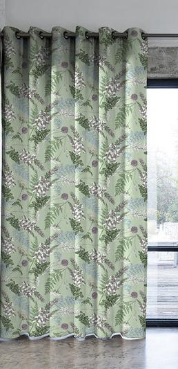 rideaux tissu acanthe