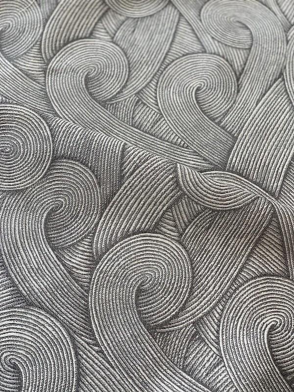 tissu Suna jacquard gris