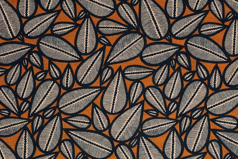 tissu lin motif fifties