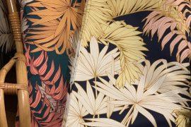 tissu jungle feuilles