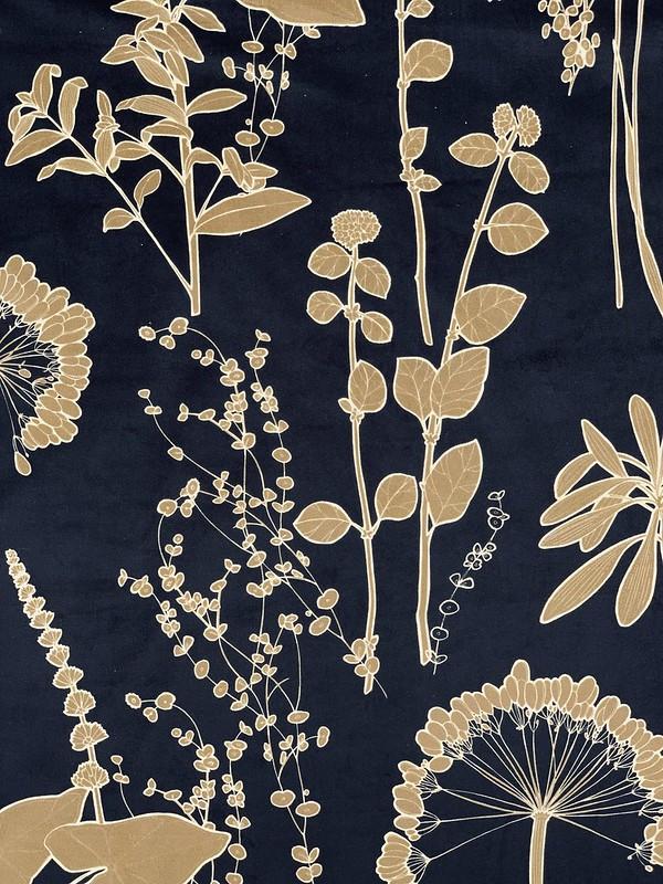 velours imprimé fleurs