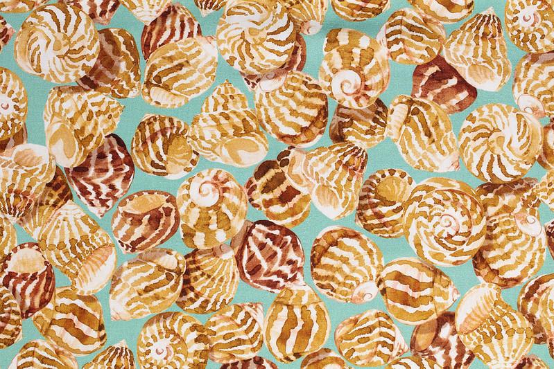 tissu coquillages