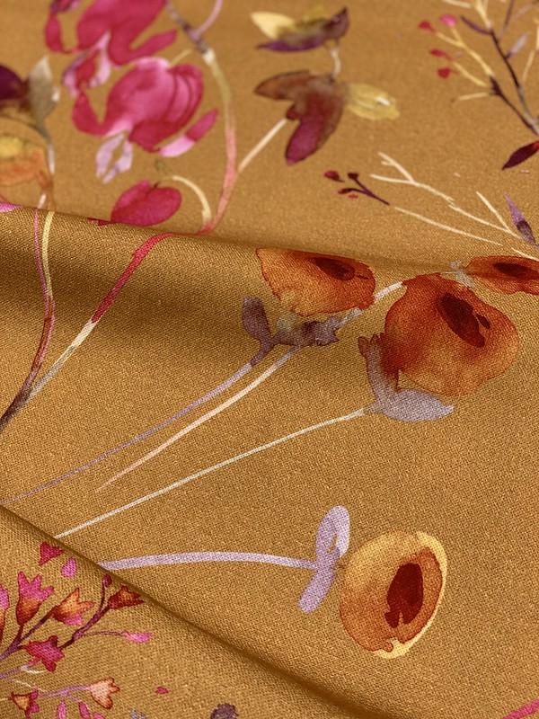 tissu imprimé jardin fleurs