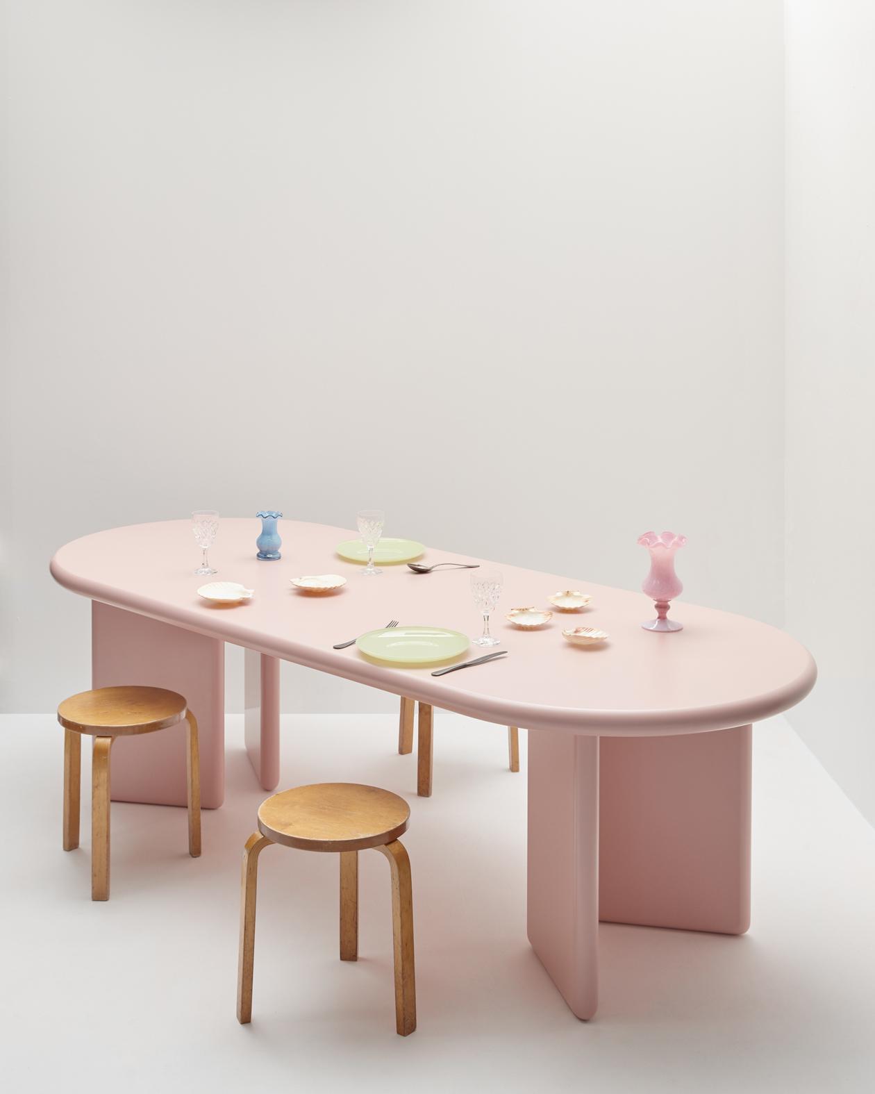 table design pastel
