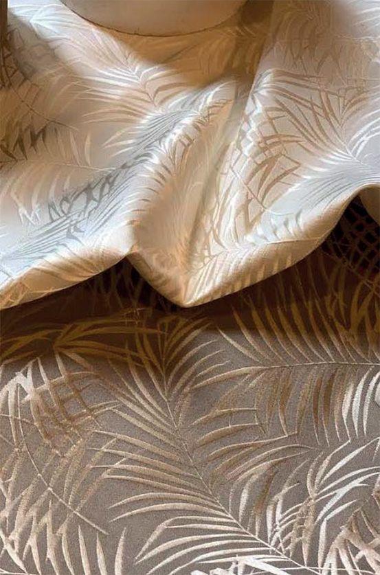tissu palmiers beige