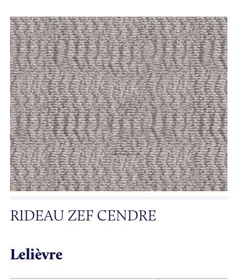 rideau voilage Lelièvre Zef
