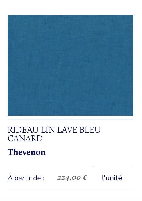 lin lavé bleu canard