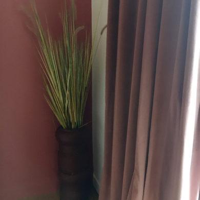 rideau rose phonique