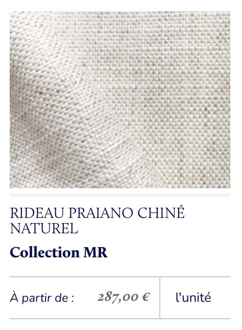tissu naturel chiné