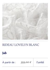 voilage blanc motifs