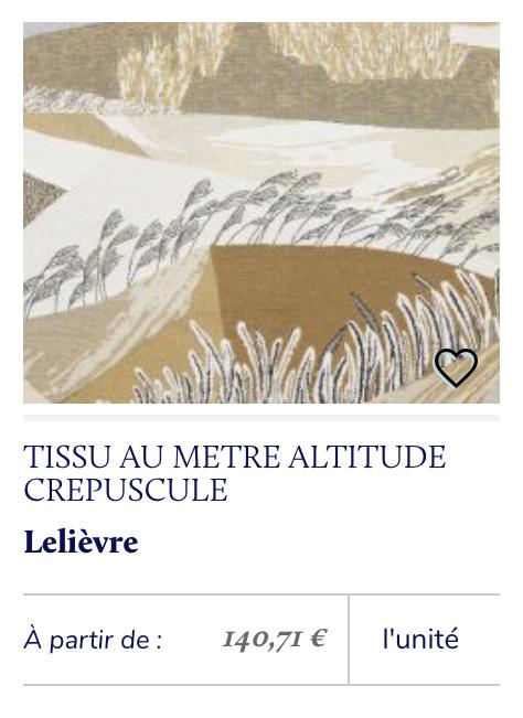 tissu montagne Lelièvre