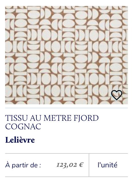 tissu géométrique rétro lelièvre