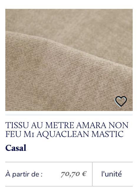 tissu casal aquaclean