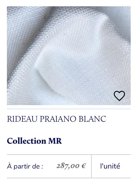 tissu blanc rideau