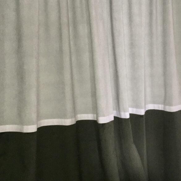 rideau tissu Douceur nuage + Sweet Love vert anglais
