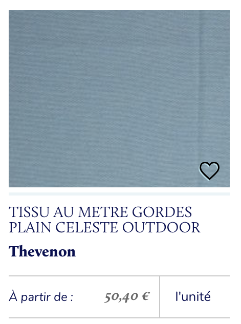 tissu outdoor bleu