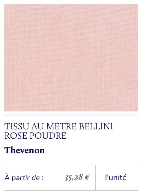 grosse toile rose poudré
