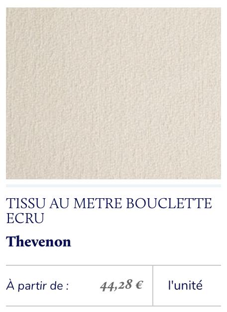 tissu bouclette