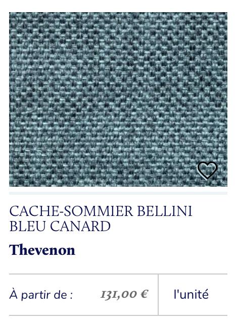 cache sommier bleu canard