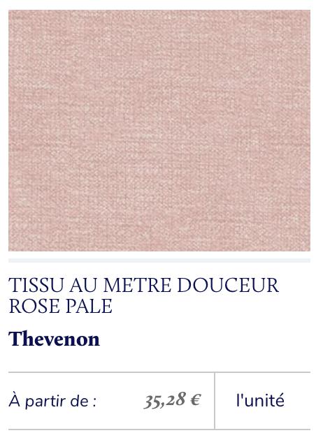 velours mat rose poudré