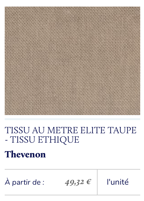 tissu éthique taupe