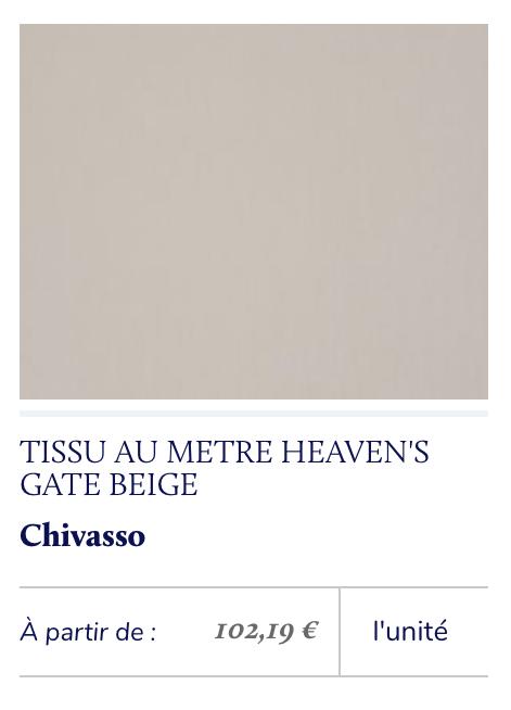 tissu beige grisé