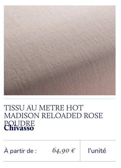 tissu lin rose poudré