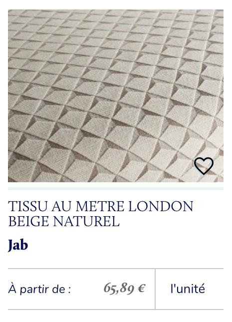 tissu écru beige géométrique