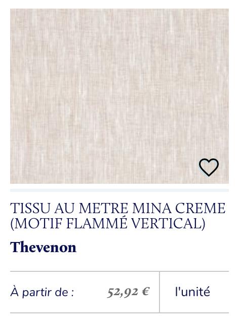 tissu chiné beige