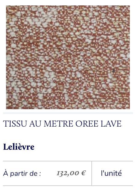 tissu chiné matière rouge terracotta