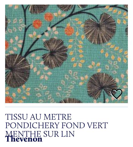 tissu imprimé bleu turquoise lin