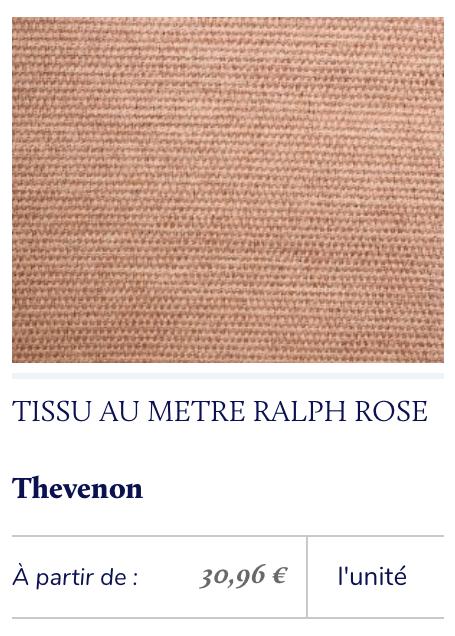 tissu rose saumon toile