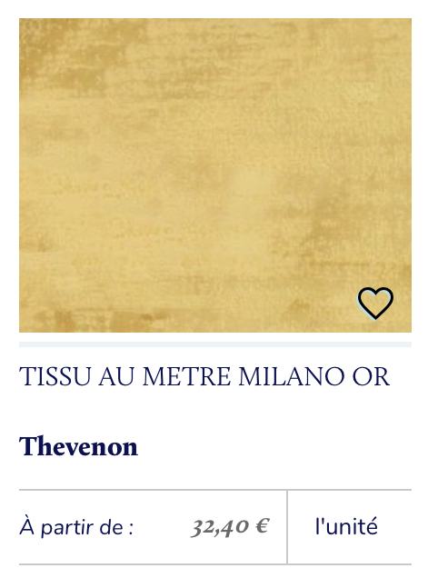 tissu velours or