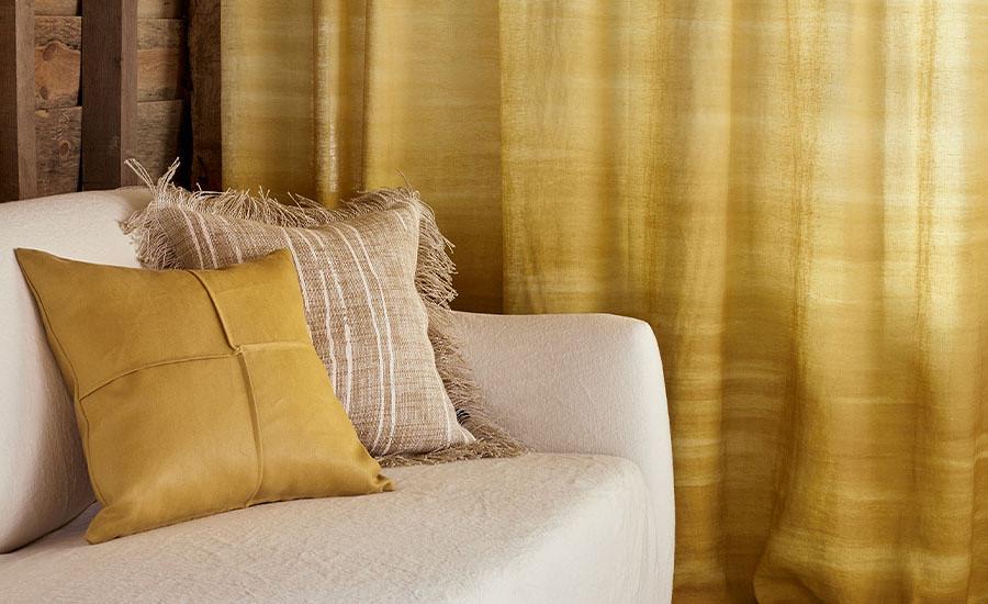 tissus haut de gamme naturels rideau coussin