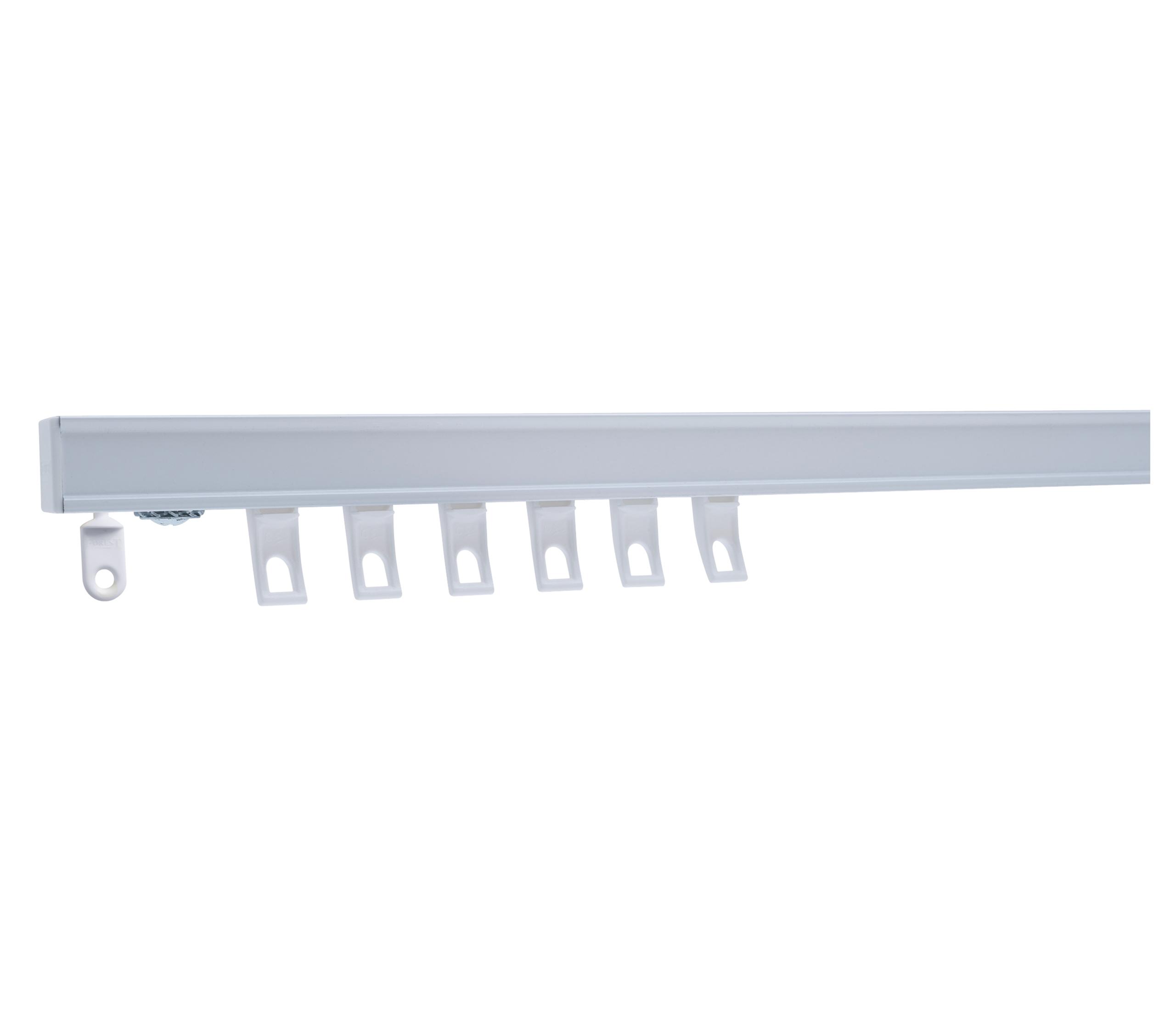 Modèle CS : Fixation au plafond ou au mur pour rideaux lourds (doublé, hauteur + 300 cm)